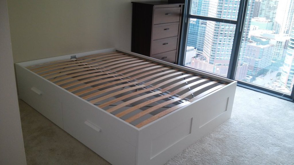 Picture of: Ikea Brimnes Bed Full