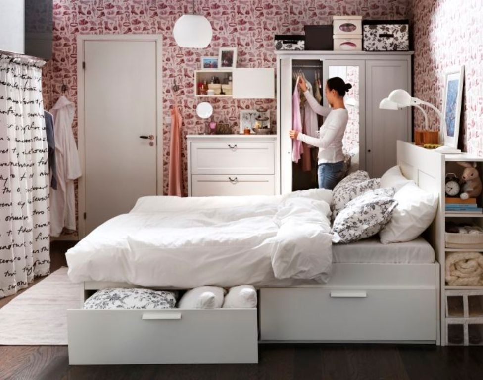 Picture of: Ikea Brimnes Bed