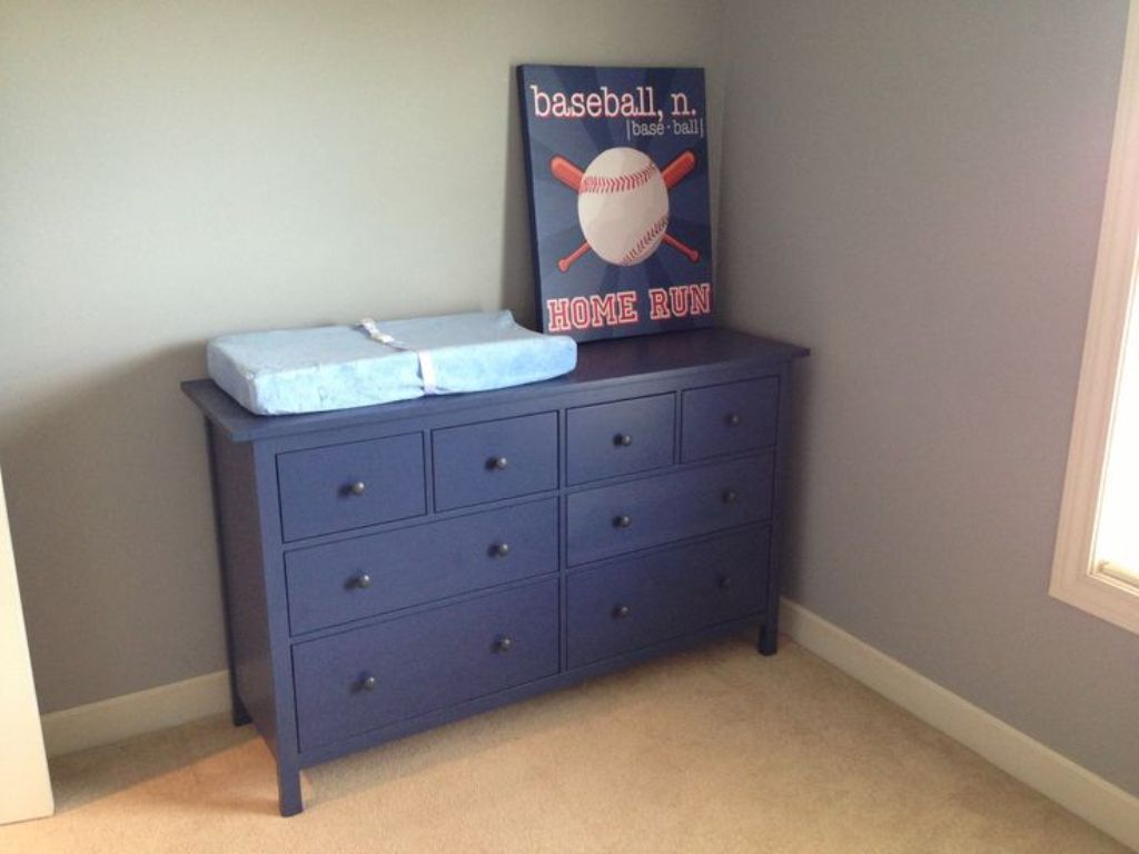 Picture of: Blue Ikea Dresser Hemnes