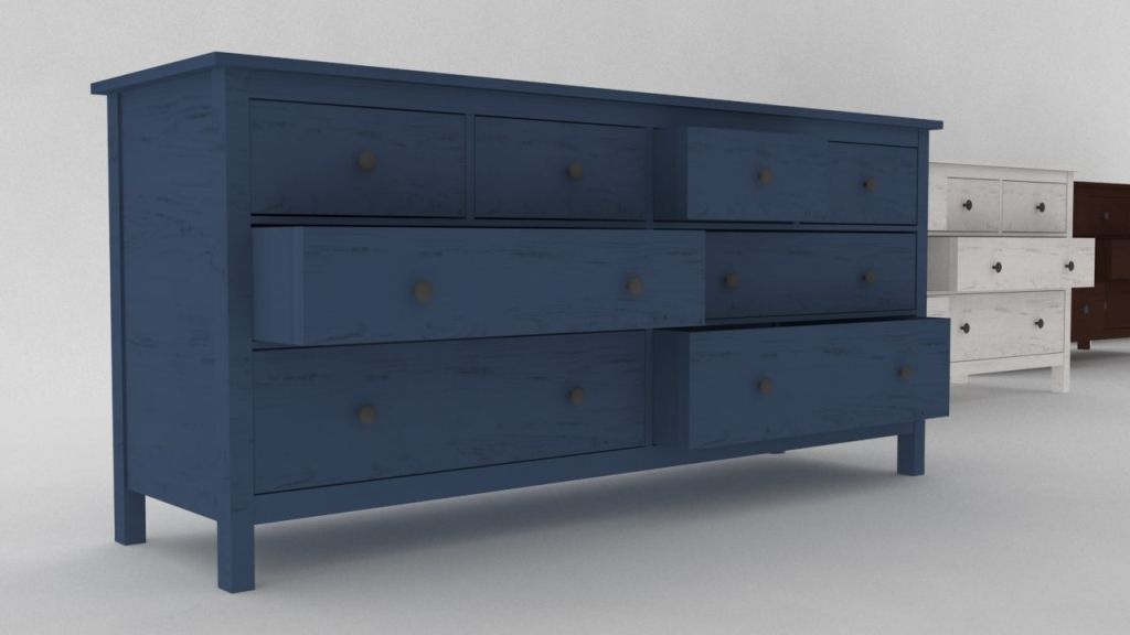Picture of: Ikea Hemnes 3 Drawer Dresser Blue