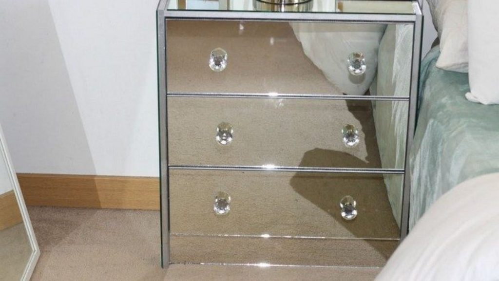 Picture of: Ikea Mirrored Nightstand