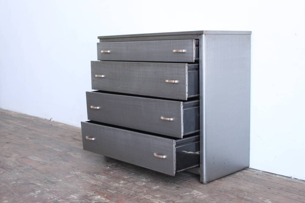 Image of: Industrial Metal Dresser Designs