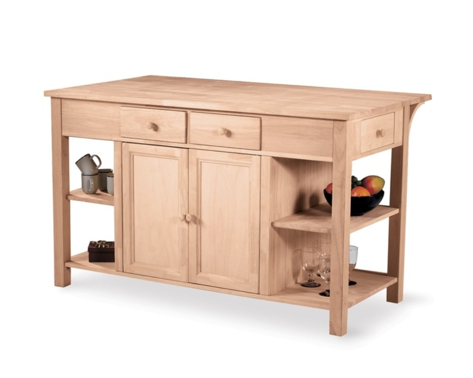 International Concepts Unfinished Wood Dresser