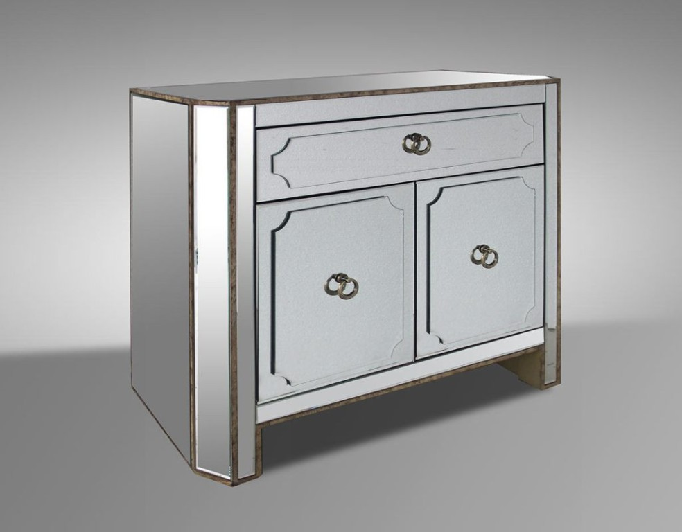Picture of: Mirrored Nightstand