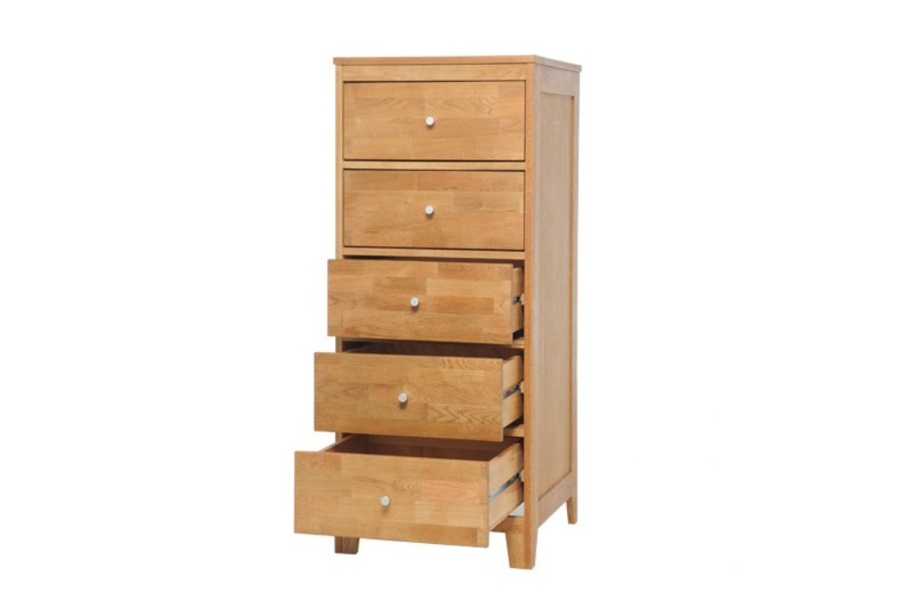 Picture of: Decorative Narrow Chest Of Drawers For Hallway