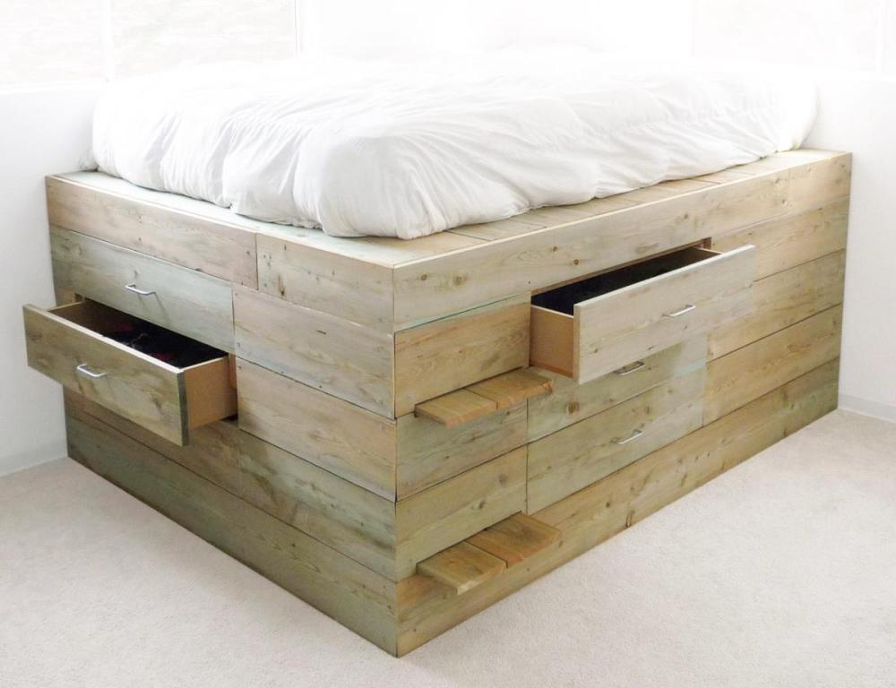 Picture of: Unfinished Storage Bed