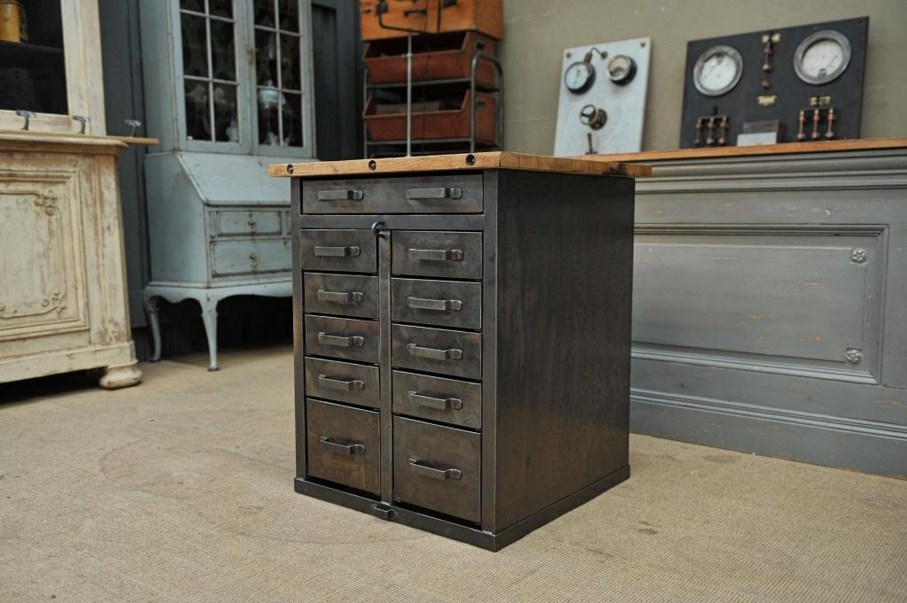 Vintage Metal Chest Of Drawers