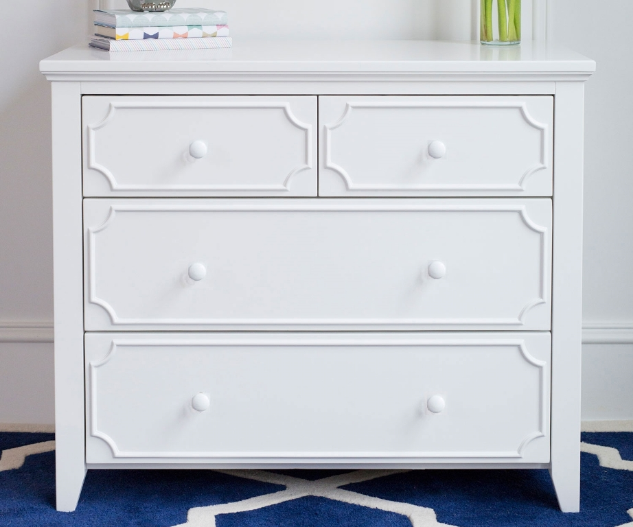 Picture of: White 4 Drawer Dresser