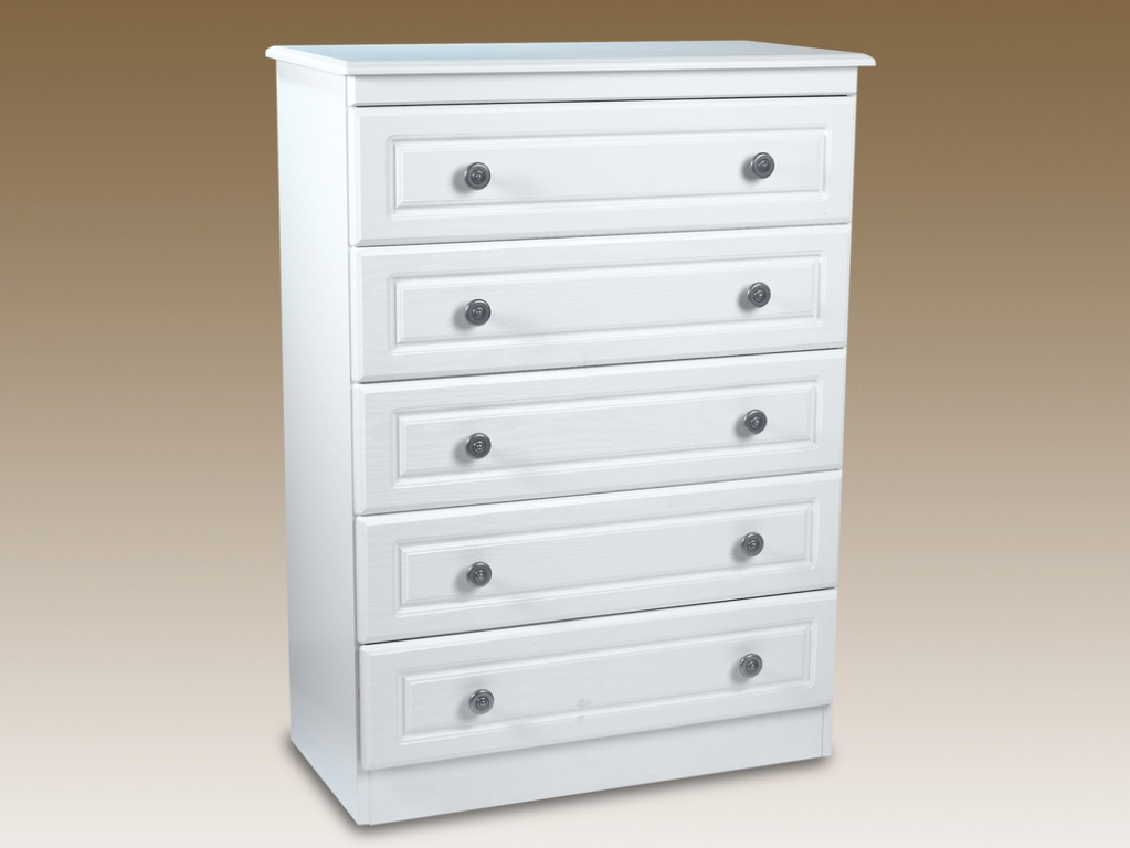 Picture of: White 5 Drawer Dresser