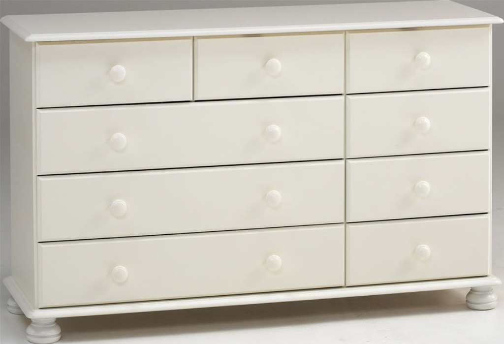 Picture of: White 9 Drawer Dresser