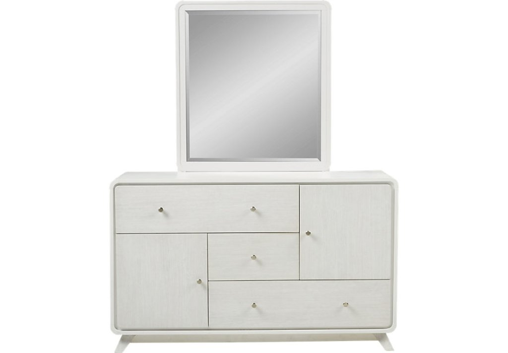 White Dresser With Mirror