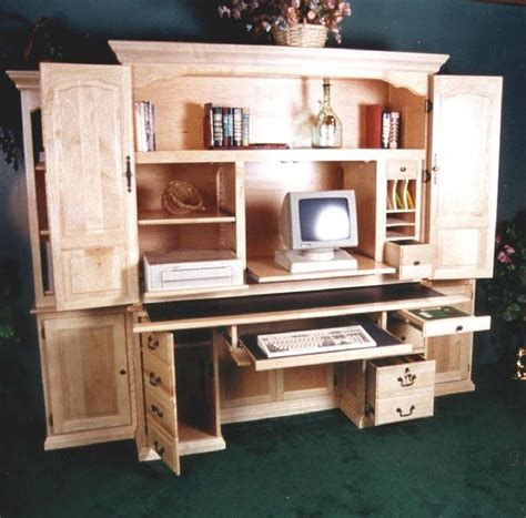 Image of: Amazing Armoire Computer Desk