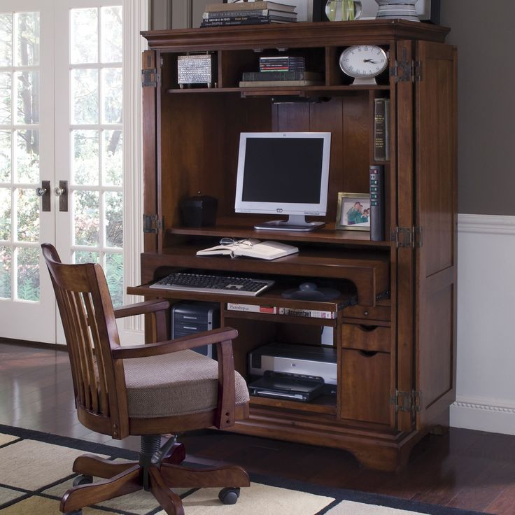 Image of: Amazing Computer Armoire Desk