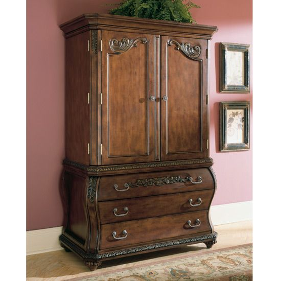 Image of: Antique Ashley Furniture Armoire