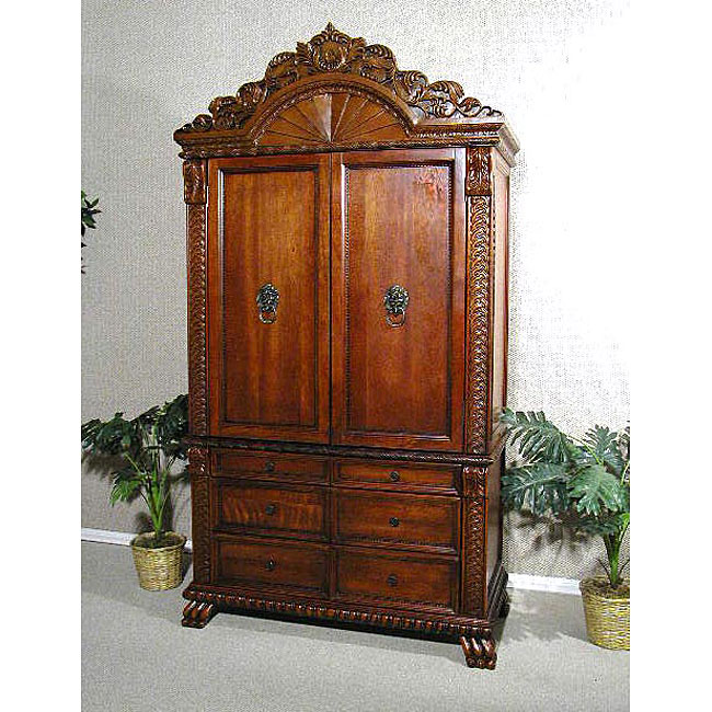 Image of: Antique Cherry Armoire