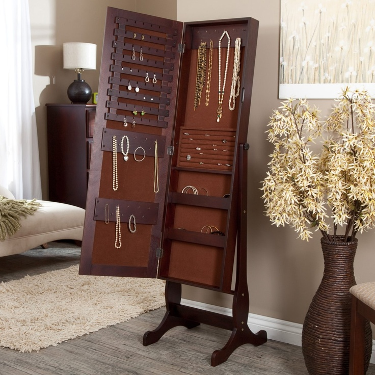 Picture of: Antique Full Length Mirror Jewelry Armoire