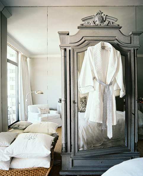Picture of: Antique Mirrored Armoire Wardrobe
