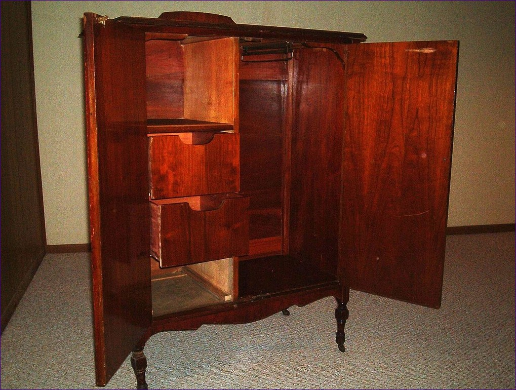 Image of: Antique Pine Armoire