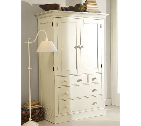 Image of: Antique West Elm Armoire