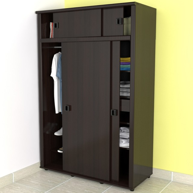 Awesome Espresso Armoire