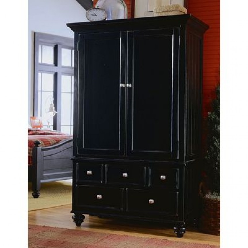Image of: Black Closet Armoire
