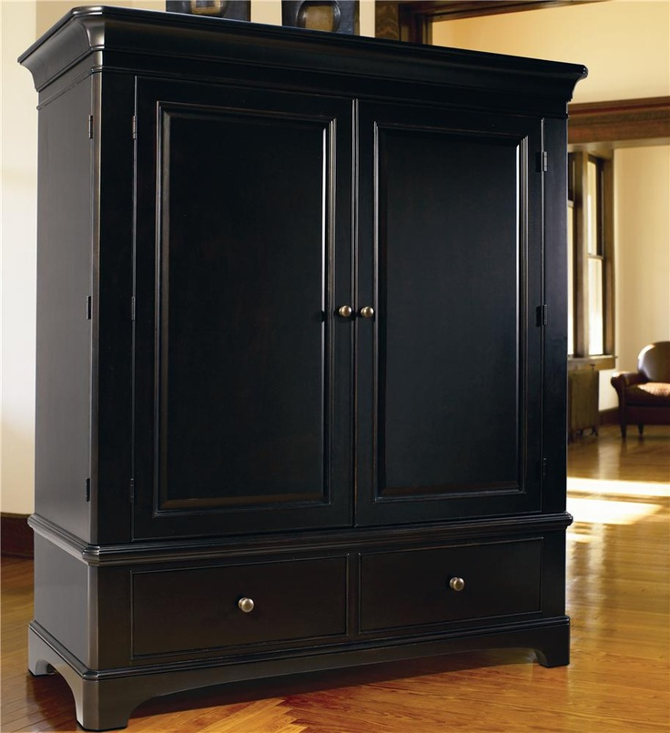 Image of: Black Entertainment Armoire