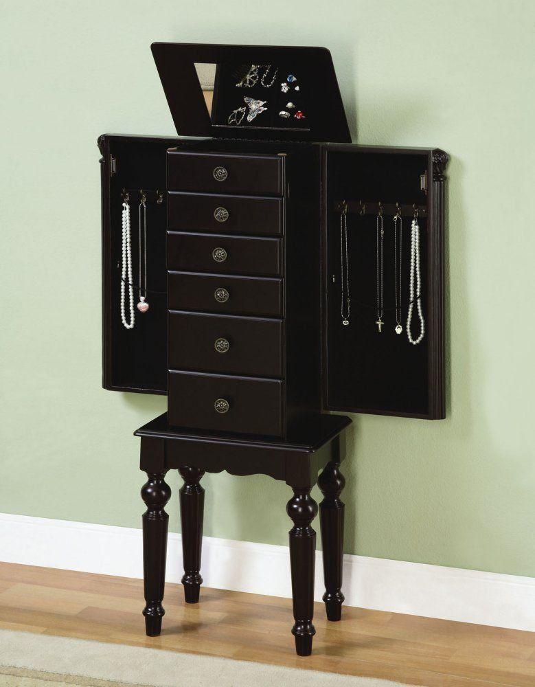 Image of: Black Jewelry Chest Armoire