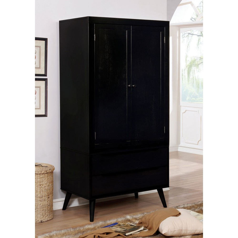 Picture of: Black Mid Century Armoire