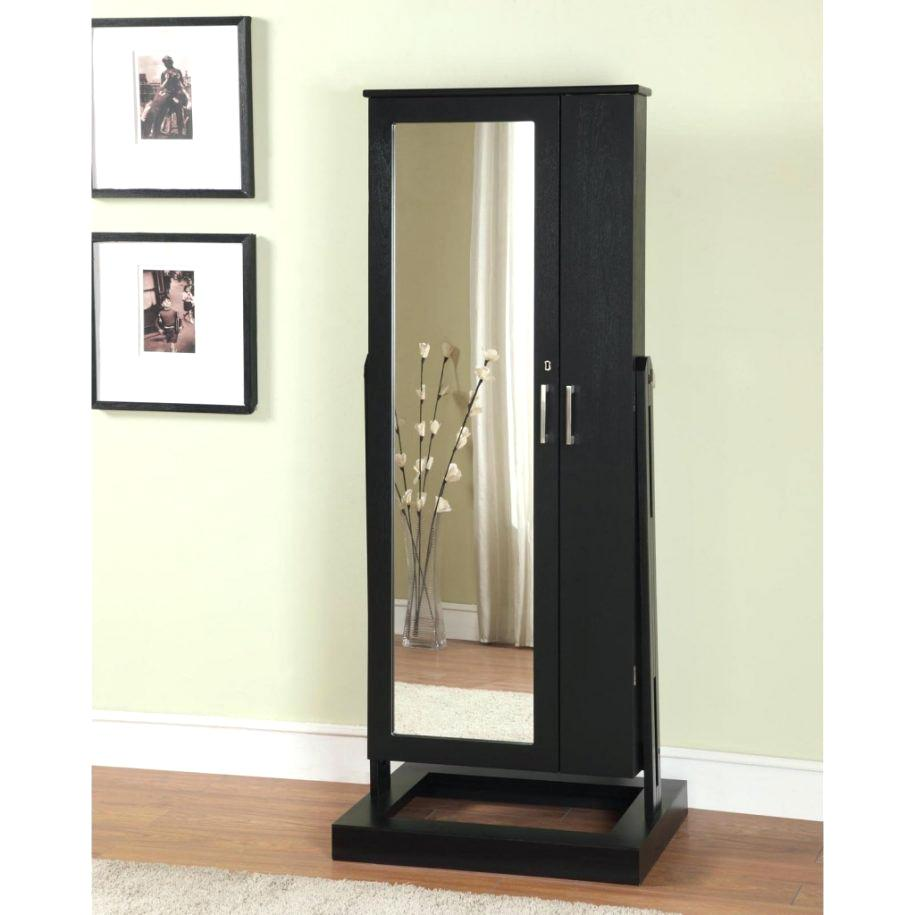 Black Mirrored Armoire