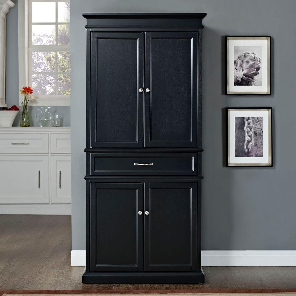 Black Pantry Armoire