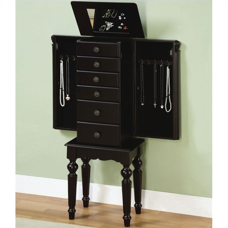 Black Powell Jewelry Armoire
