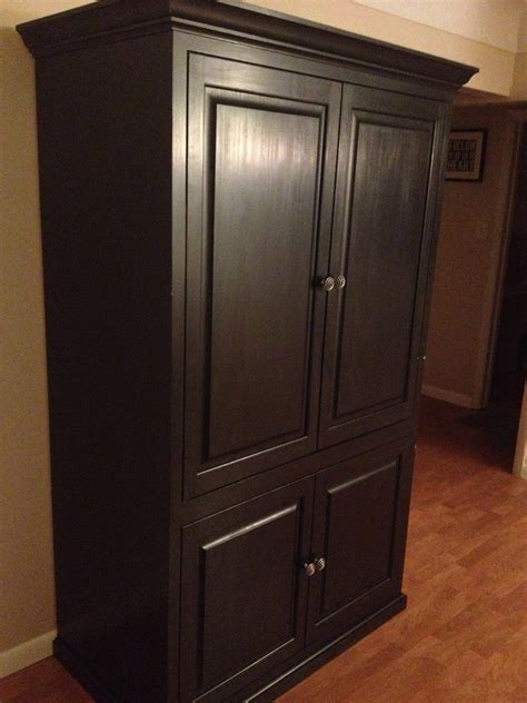 Image of: Black Solid Wood Armoire