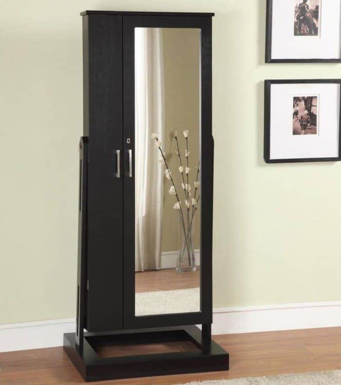 Black Standing Jewelry Armoire