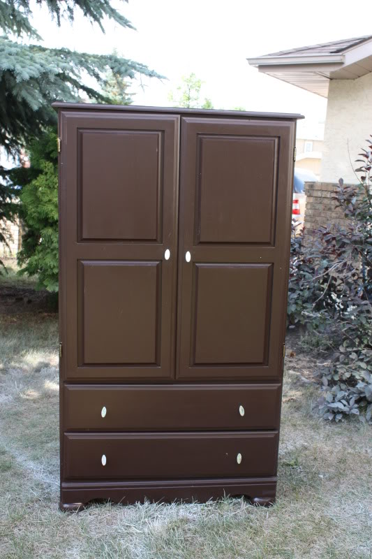 Image of: Brown Bedroom Set with Armoire