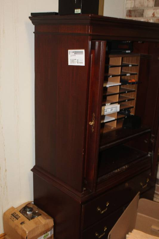 Picture of: Brown Dresser Armoire Combo