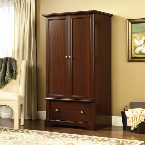 Image of: Brown Sauder Armoire