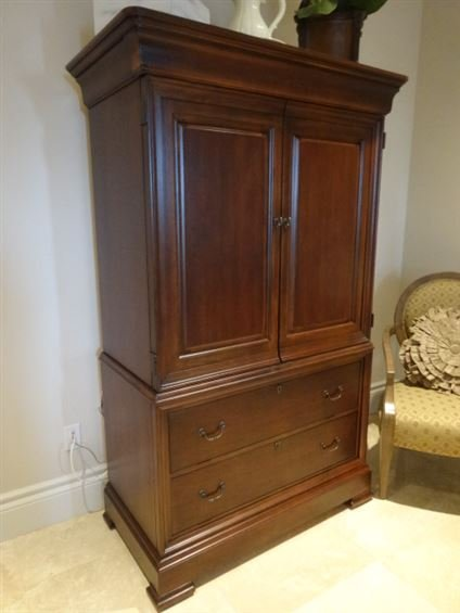 Image of: Brown Thomasville Armoire