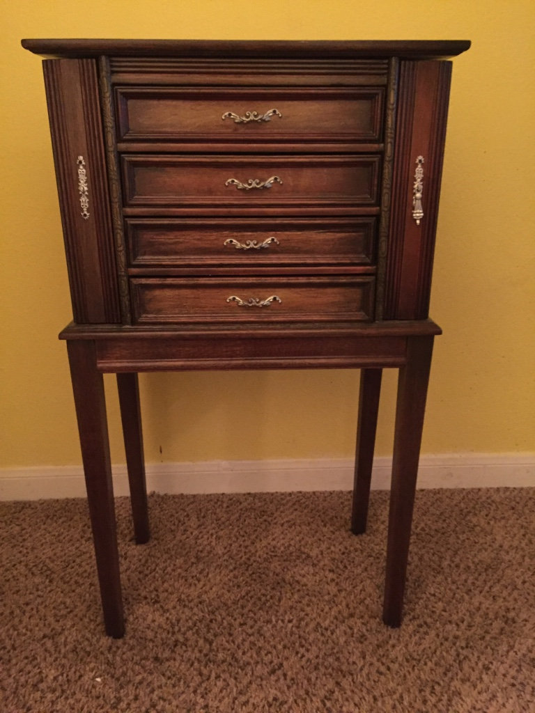 Picture of: Brown Wooden Jewelry Armoire