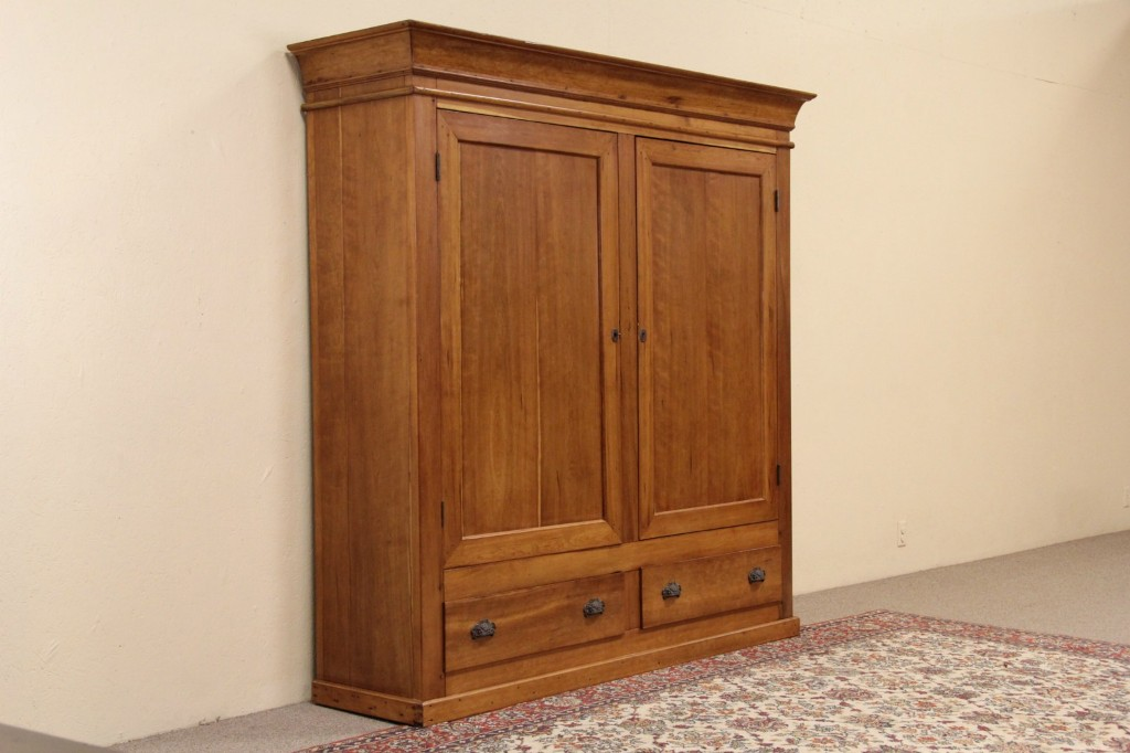 Image of: Cherry Wood Armoire Bedroom