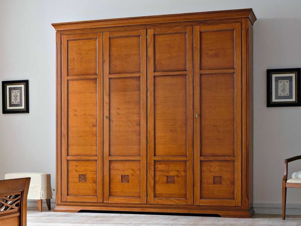 Image of: Cherry Wood Armoire Design