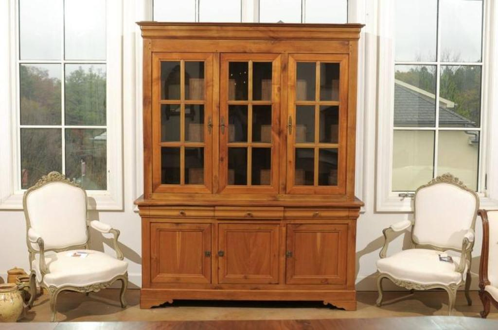 Image of: Cherry Wood Armoire Double Door