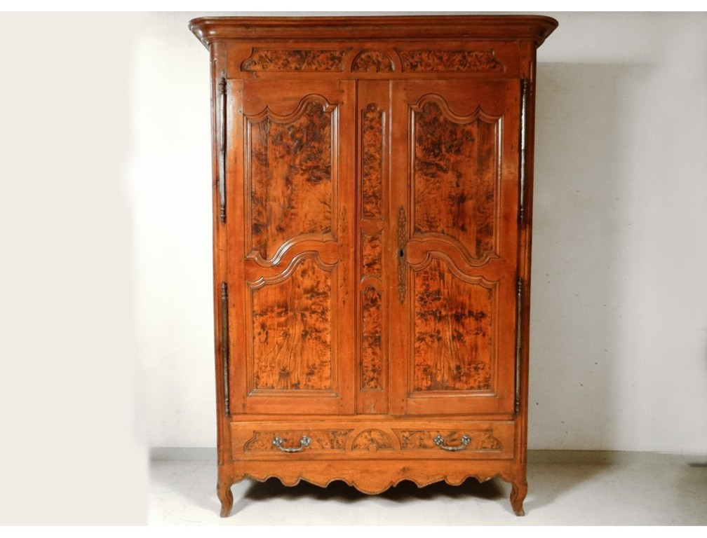 Image of: Cherry Wood Armoire Wardrobe