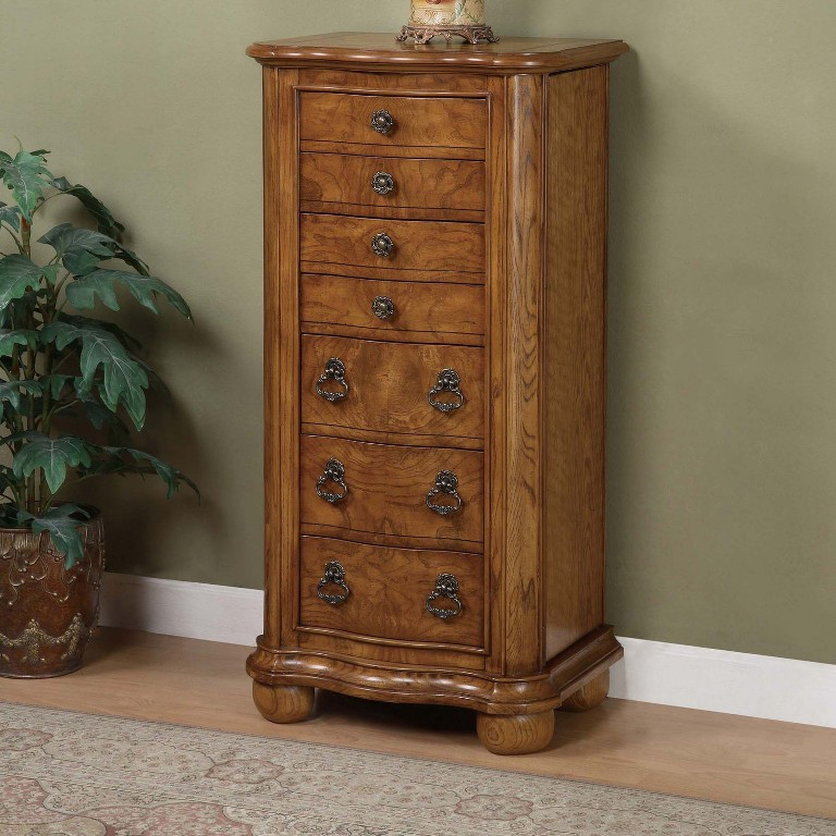 Image of: Chest Rustic Jewelry Armoire