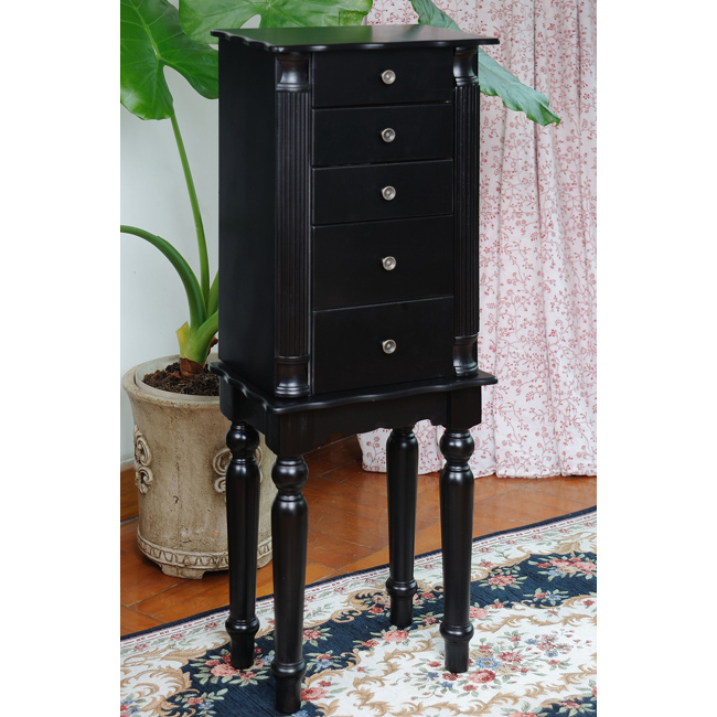 Image of: Classy Black Jewelry Armoire