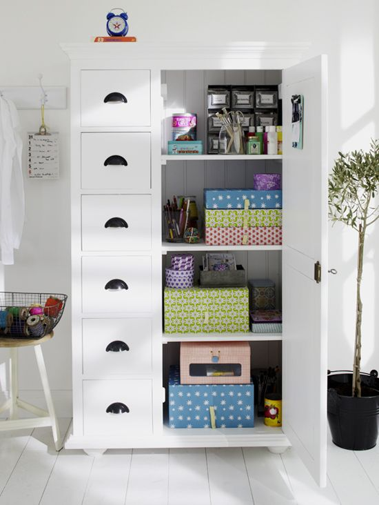 Image of: Clean Craft Storage Armoire