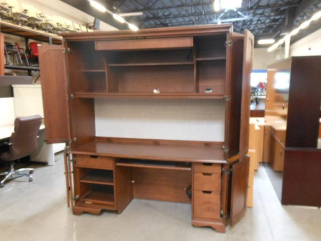 Image of: Corner Armoire Desk Design