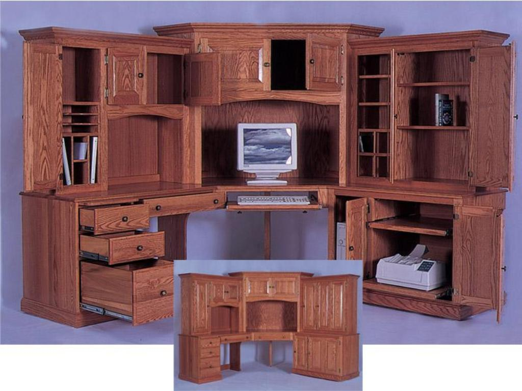 Image of: Corner Armoire Desk Ideas