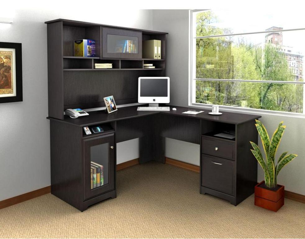 Picture of: Corner Computer Armoire Desk Cabinet