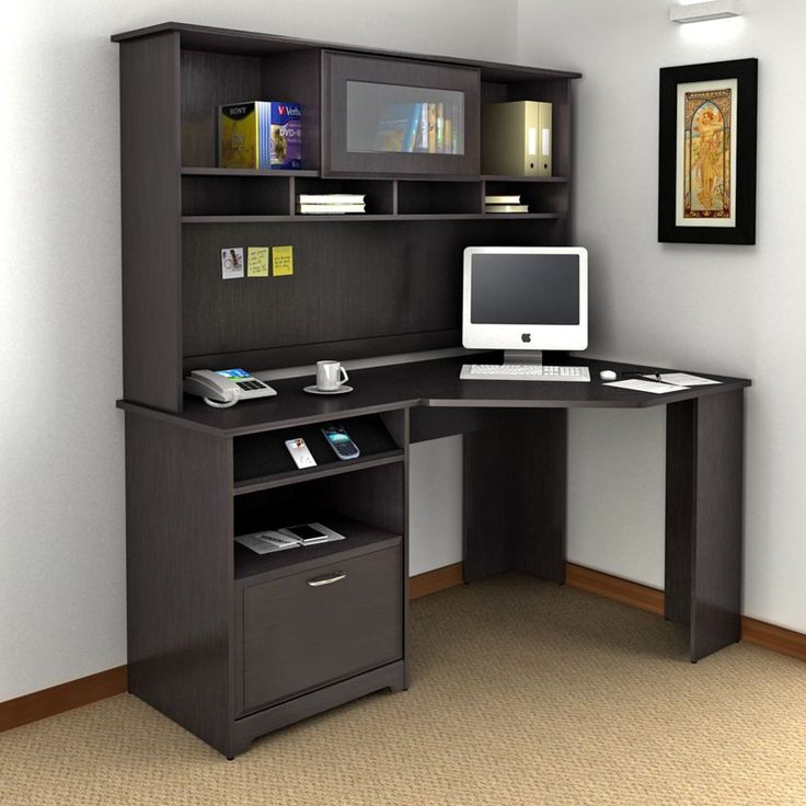 Picture of: Corner Computer Armoire Desk