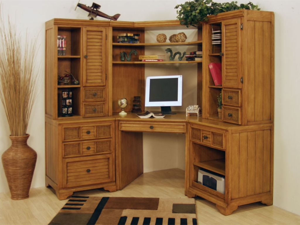 Image of: Corner Computer Cabinet Armoire Ideas